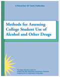 cover photo of the report - Methods for Assessing College Student Use of Alcohol and Other Drugs