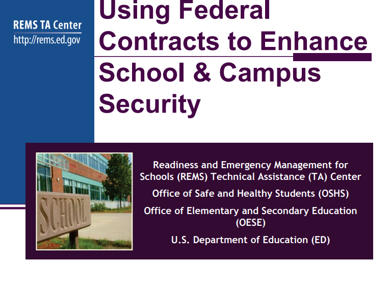 Using Federal Contracts to Enhance School & Campus Security