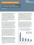 Report cover - College Costs in Context A State-by-State Look at College (Un)Affordability