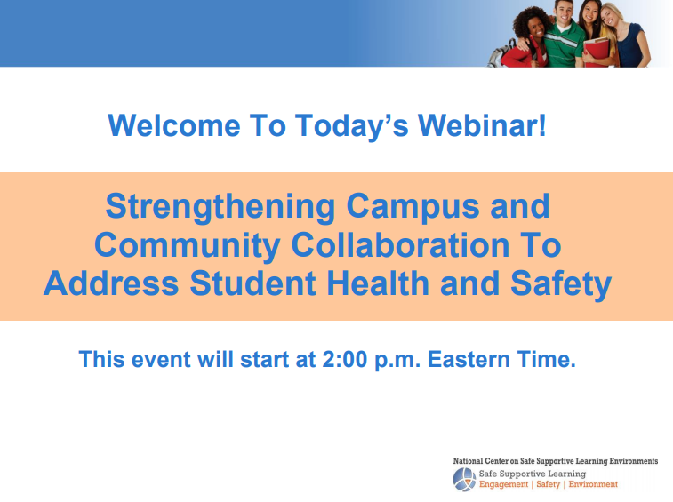 Strengthening Campus and Community Collaboration to Address Student Health and Safety