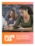 Cover image of the Guide to Assessing Basic Needs Insecurity in Higher Education resource