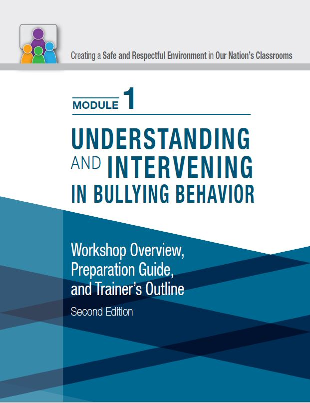 cover page of the classroom bullying train the trainer module 1