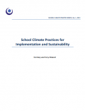 Cover image of School Climate Practice Briefs for Implementation and Sustainability