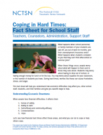 Coping in Hard Times: Fact Sheet for School Staff cover page