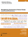 Screenshot cover of report - Strengthening Assessments of School Climate: Lessons from the NYC School Survey