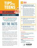 Graphic of psilocybin mushrooms with precautionary information for teens.
