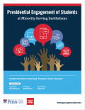 Book cover image - Presidential Engagement of Students at Minority Serving Institutions