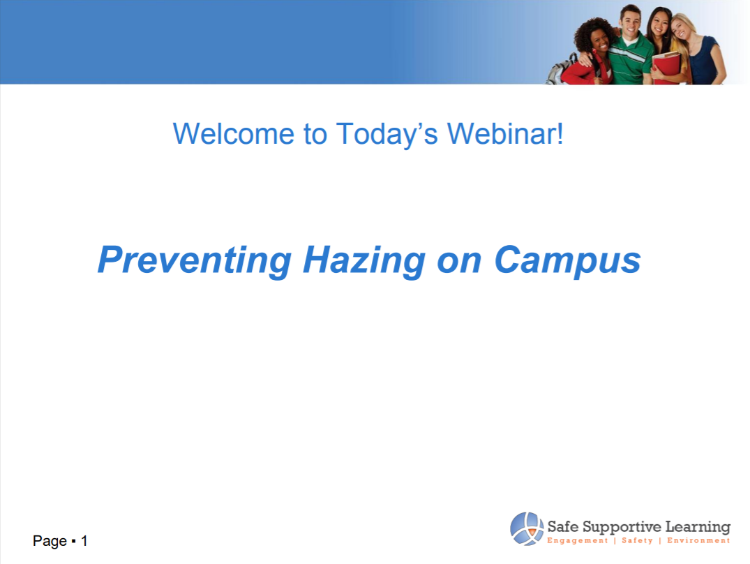 Preventing Hazing on Campus