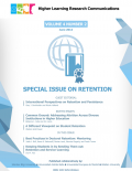 Higher Learning Research Communications: Special Issue on Retention