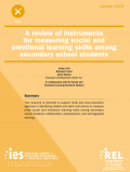 Cover page of the A review of instruments for measuring social and emotional learning skills among secondary school students resource