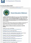 U.S. Department of Education logo on webpage