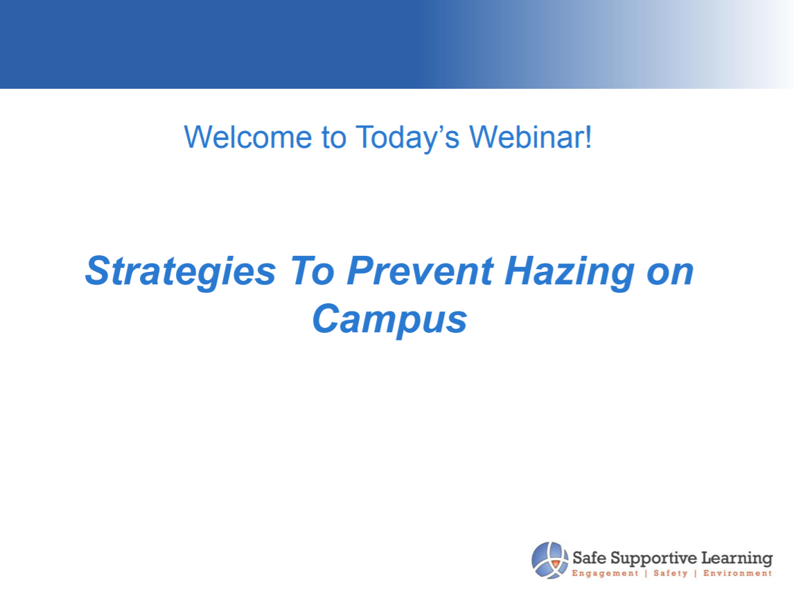 Strategies to Prevent Hazing on Campus