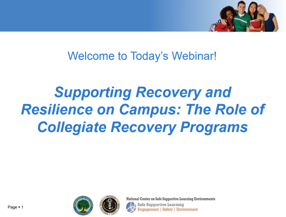 Supporting Recovery and Building Resilience on Campus: The Role of Collegiate Recovery Programs