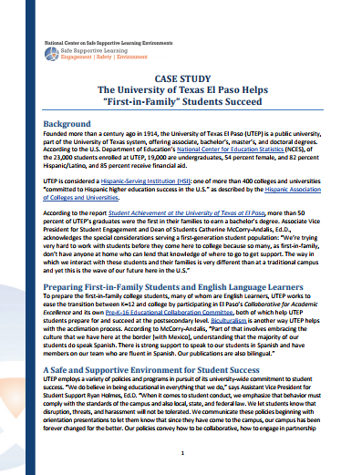 Higher Education Case Study: The University of Texas El Paso (UTEP)