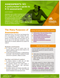 First page of the Assessments 101: A Policymaker's Guide to K-12 Assessments document