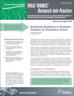 Bolstering Resilience in Students: Teachers as Protective Factors report cover