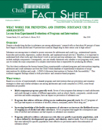 Whats Works for Preventing and Stopping Substance Use in Adolescents: Lessons from Experimental Evaluations of Programs and Interventions cover page