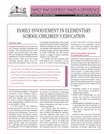 Family Involvement in Elementary School Children's Education cover page