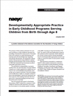 Developmentally Appropriate Practice in Early Childhood Programs Serving Children from Birth through Age 8 report cover