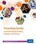 Picture of the Preventing Suicide: A Technical Package of Policy, Programs, and Practices cover page.