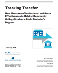 Cover image - Tracking Transfers: New Measures of Institutional and State Effectiveness in Helping Community College Students Attain Bachelor's Degrees