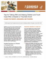Tips for Talking to Children and Youth After Traumatic Events: A Guide for Parents and Educators cover page